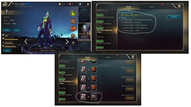 [Game Android] Buruan Dapatkan Hero Gratis AOV Si Joker [Event Terbatas]