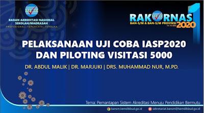 Pelaksanaan Uji Coba IASP 2020 dan Piloting Visitasi 5000 Sekolah  Madrasah