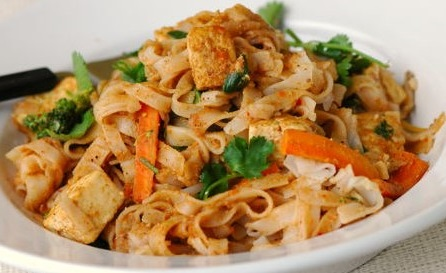 Tofu and Brown Rice Noodles