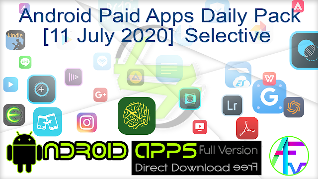 Android Paid Apps Daily Pack [11 July 2020] Selective