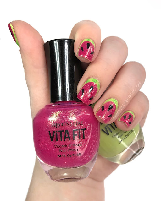 25 Sweetpeas Watermelon Nail Art