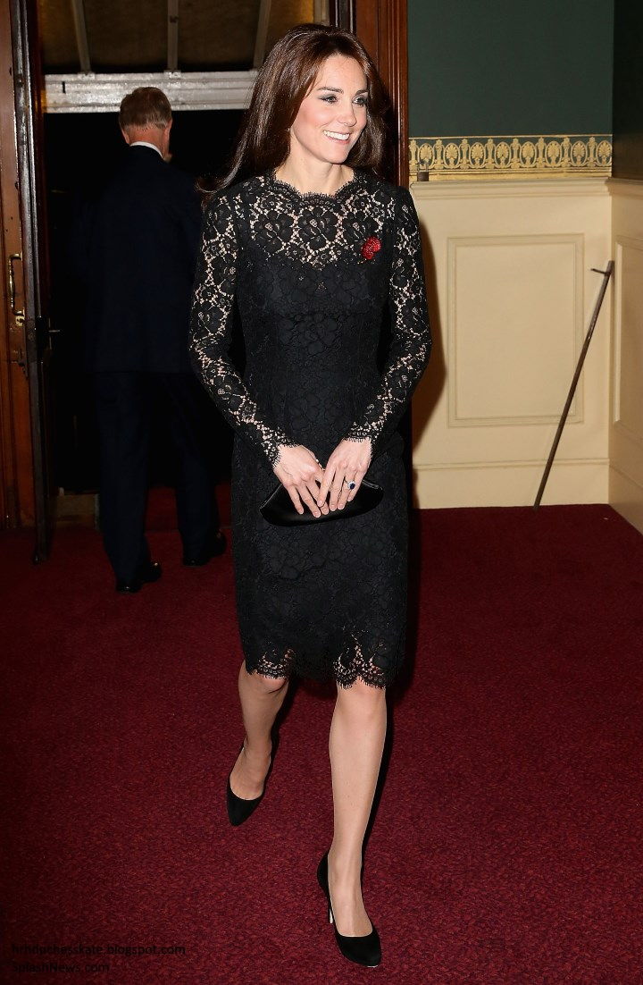 Duchess Kate: UPDATED: Kate in Black Lace Dolce & Gabbana ...