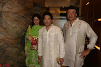 Sachin Tendulkar with his wife at Mata ka Jagrata hosted by Anu Malik 02.JPG