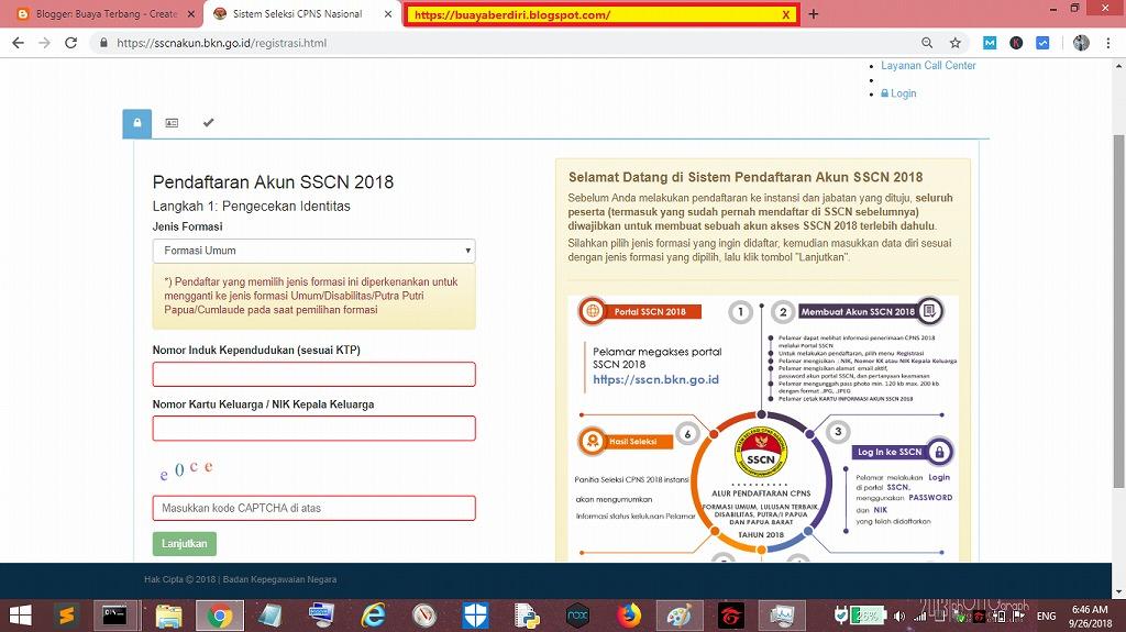 Langkah Langkah Registrasi Akun Sscn 2018