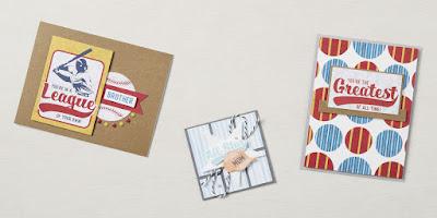 7 May 2021 Paper Pumpkin: Batter Up Alternative Projects  #stampinup #paperpumpkin