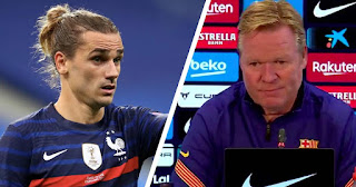 Barcelona boas Koeman respond to  Griezmann comment after International duty: 'Coach makes the orders'