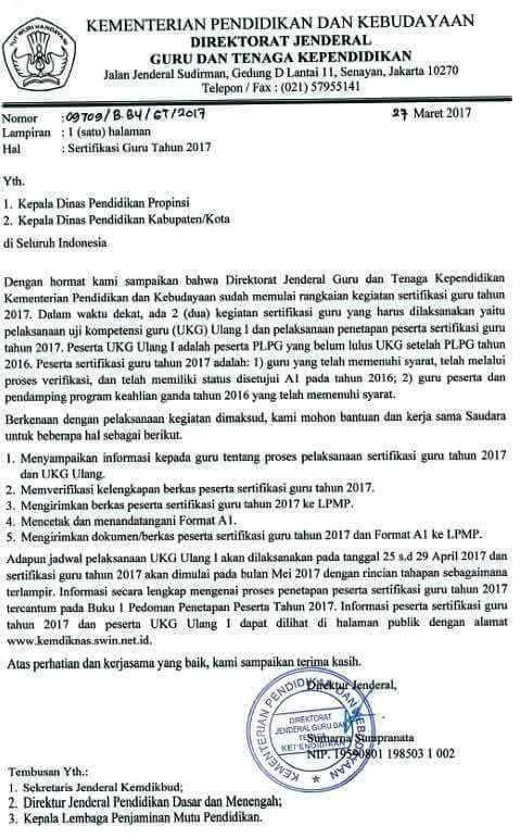 """Update Terbaru """"Jadwal Pelaksanaan UKG Ulang 1 dan Sertifikasi 2017 """".."""