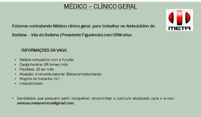 MÉDICO - CLÍNICO GERAL
