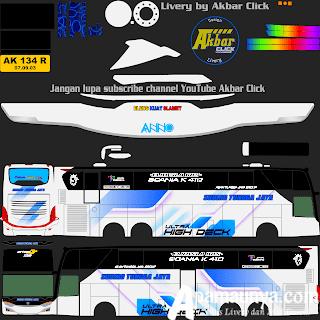 Livery Bus Sundiro tunggal jaya JB3+ UHD Volvo B11R MD Creation