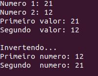 Invertendo o valor de duas variáveis em C++
