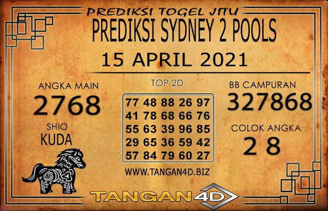 PREDIKSI TOGEL SYDNEY2 TANGAN4D 15 APRIL 2021
