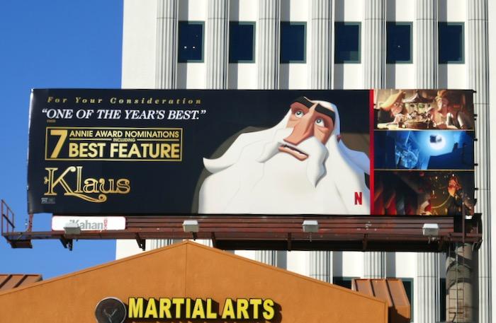 Klaus movie 7 Annie Award nominations billboard