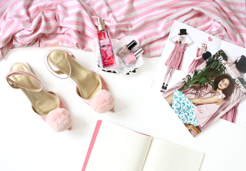 fashion lifestyle flatlay