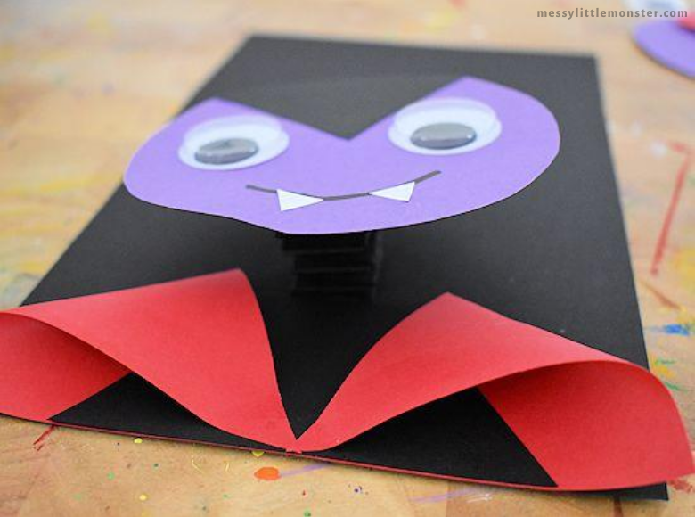 vampire paper craft for kids
