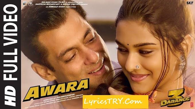 'आवारा' Awara Lyrics in Hindi - Dabangg 3 | Salman Khan