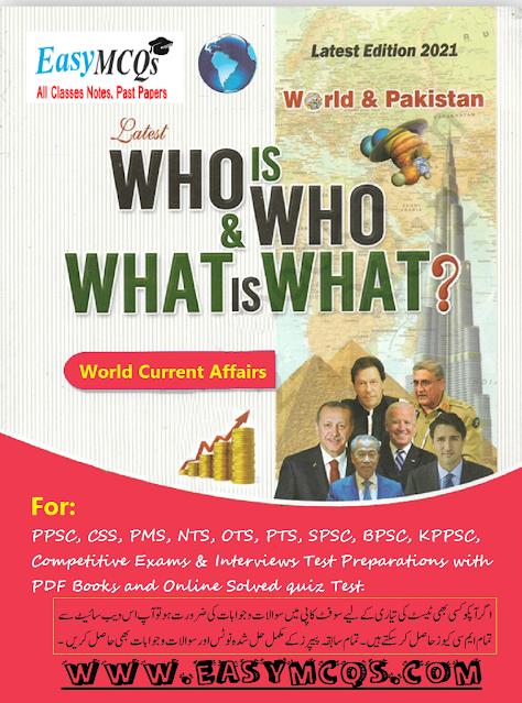 MCQs World and Pakistan Current Affairs