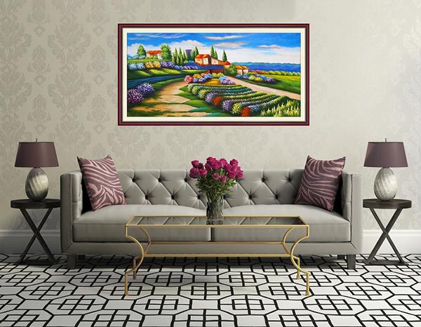 Top 5 bức tranh trang trí phòng khách đẹp và sang trọng Tranh trang trí phòng khách