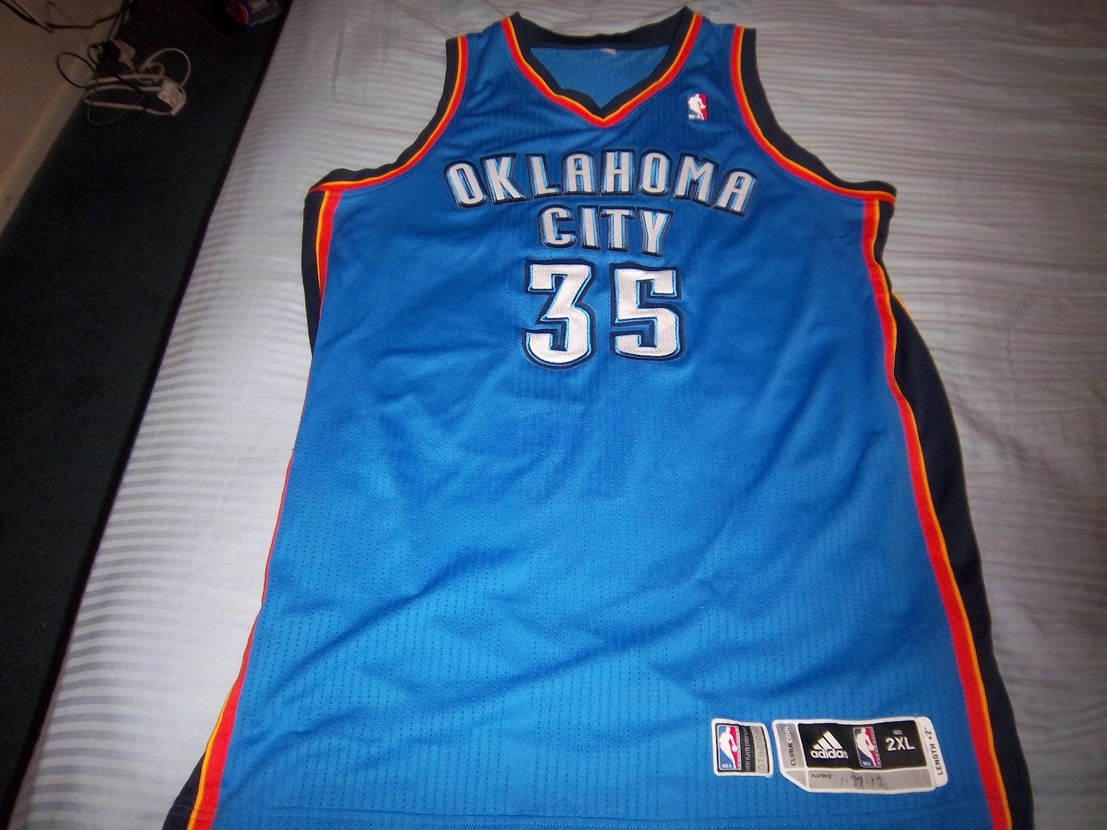 9596c0a16c79 Game Used Greatness  Kevin Durant 11 12 Game Used Road Thunder Jersey  (Meigray Certified)