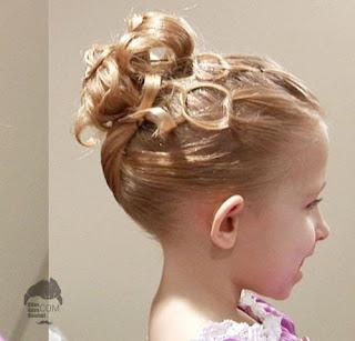 model gaya rambut kucir anak perempuan