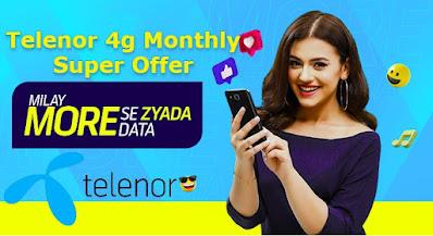 Telenor 4g Monthly Super Offer