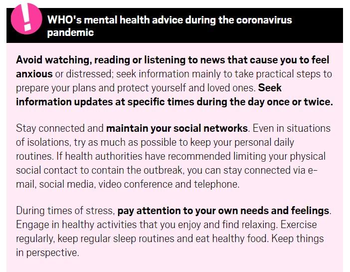 Coronavirus, Anxiety
