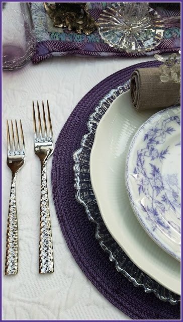 Purple Fire and Ice Tablescape for your dining table