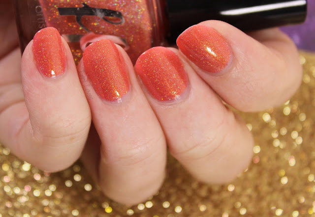 Femme Fatale Cosmetics Flamingo Feather Nail Polish Swatches & Review