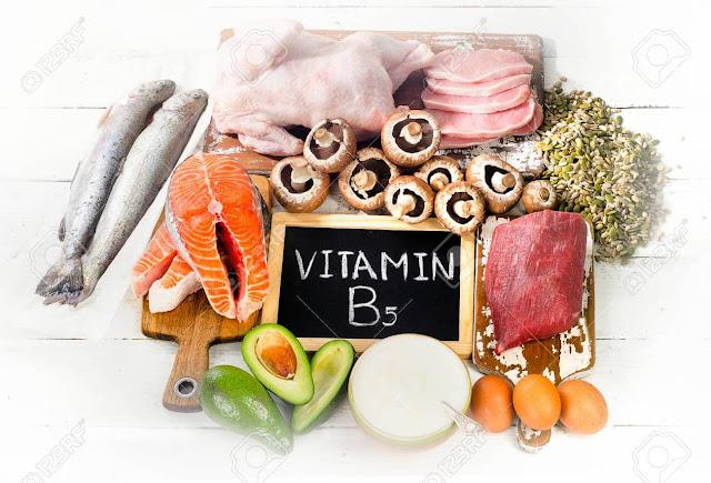وظائف وفوائد فيتامين b5 ، المصادر الغذائية ، نقصه وسميته