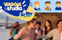 Logo ''Viaggia e studia con Mr.Day'': vinci Gif personalizzate e 12 Vacanze Studio
