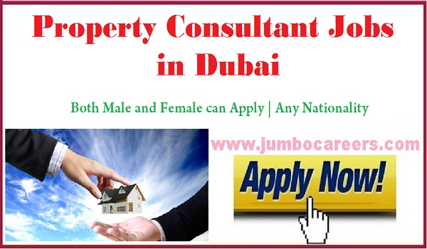 Dubai property consultant jobs for Indians, Available vacancies with salary in Dubai,