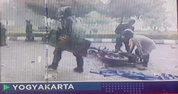 Motor Brimob Jadi Korban Aksi Ricuh Tolak UU Ciptaker di Yogyakarta