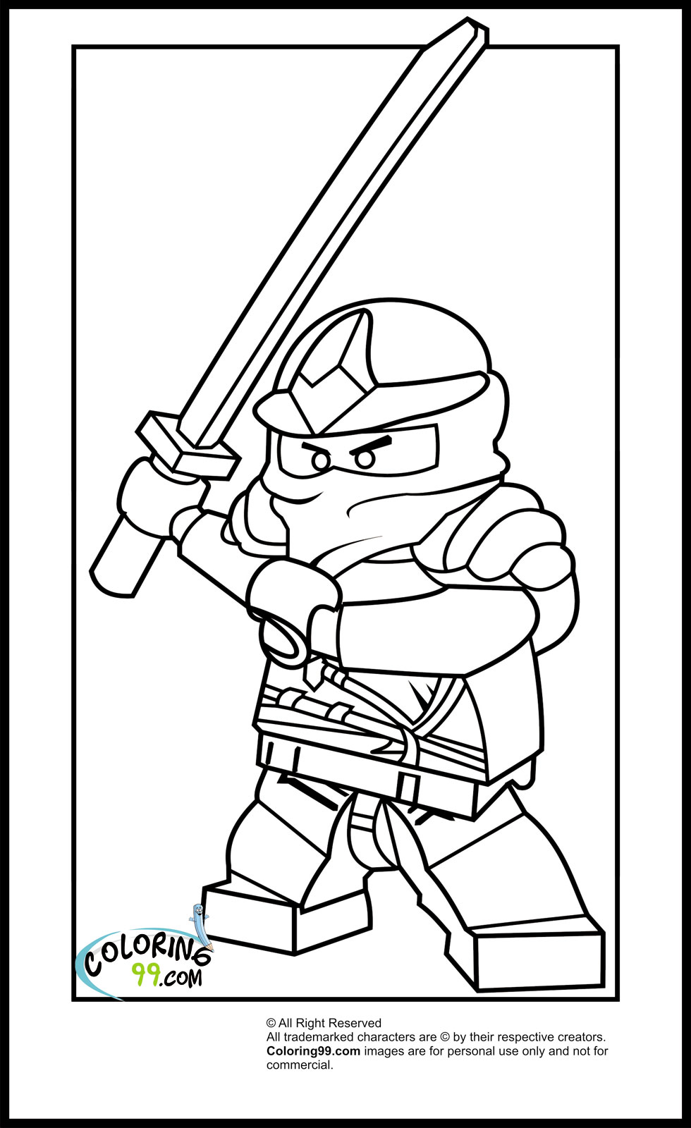 Lego ninjago zane coloring pages minister coloring for Ninja lego coloring pages