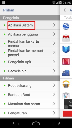 Cara Menghapus Aplikasi System Android