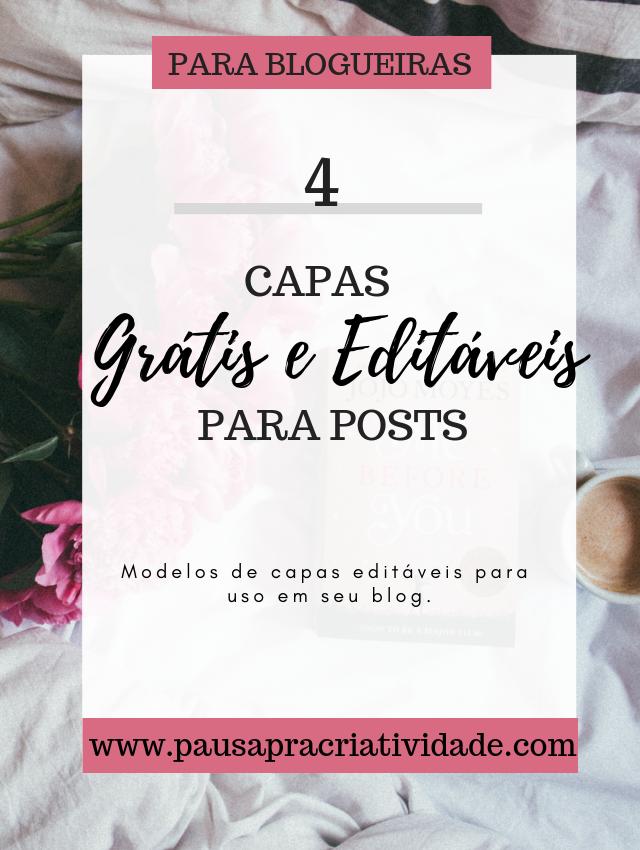 4 Templates grátis e editáveis para posts no blog