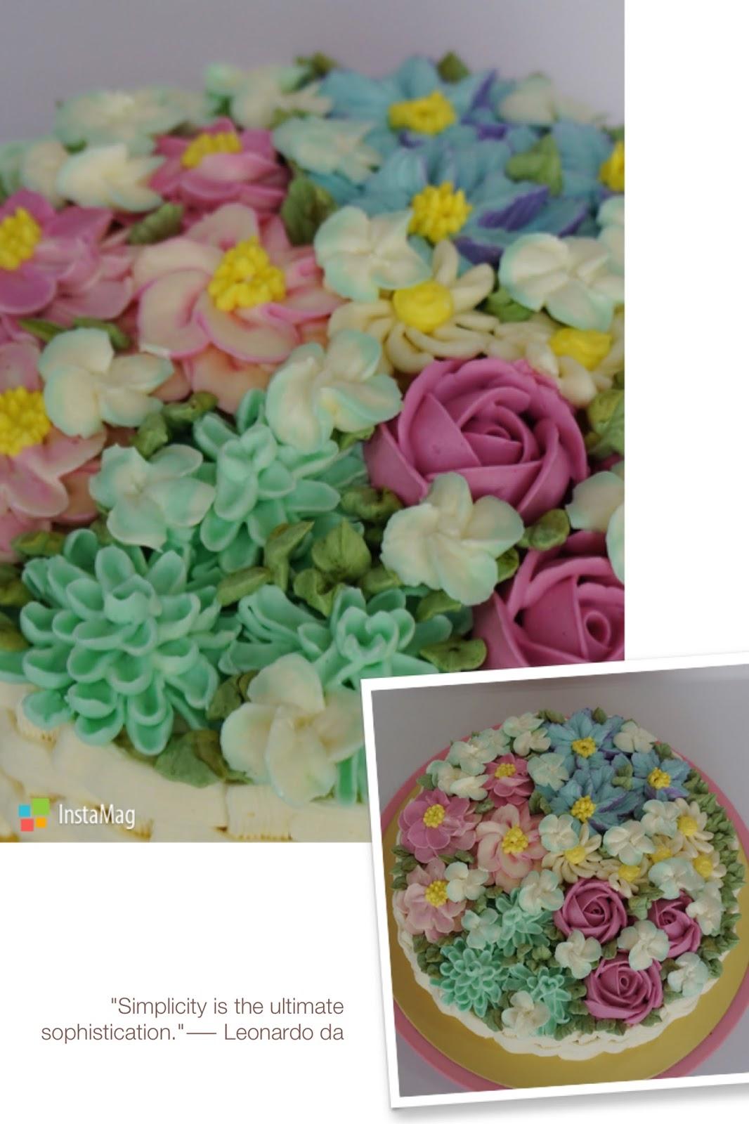 Cherish Bakes A Basket Of Flowers Birthday Espresso Bailey Cake