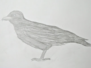 pencil drawing of a rook