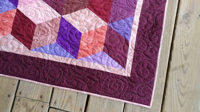 Tumbling Blocks quilt kit on Craftsy