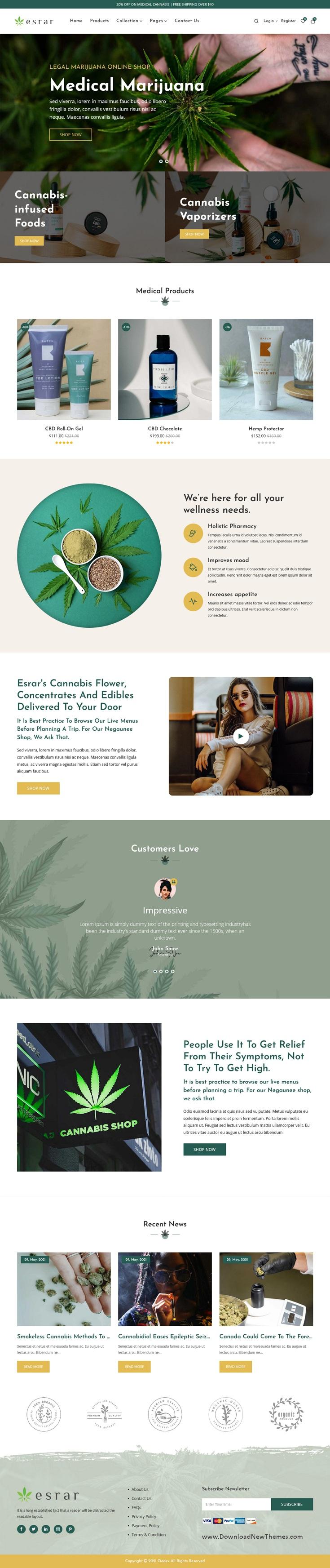 Medical Cannabis Shopify Theme