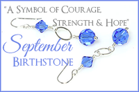 September Birthstone: A Symbol of Courage, Strength & Hope -Crystal Allure Beaded Jewelry Creations