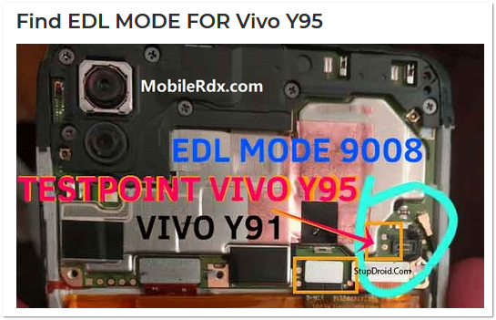 √ Cara Masuk Mode EDL 9008 Vivo Y95 Lewat Test Point
