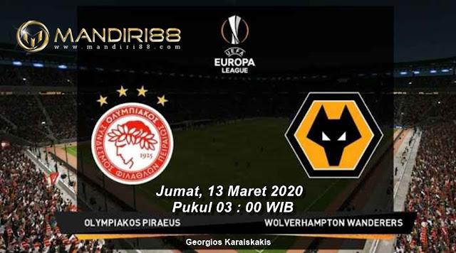 Prediksi Olympiakos Vs Wolverhampton Wanderers, Jumat 13 Maret 2020 Pukul 03.00 WIB