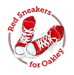 red sneakers oakley