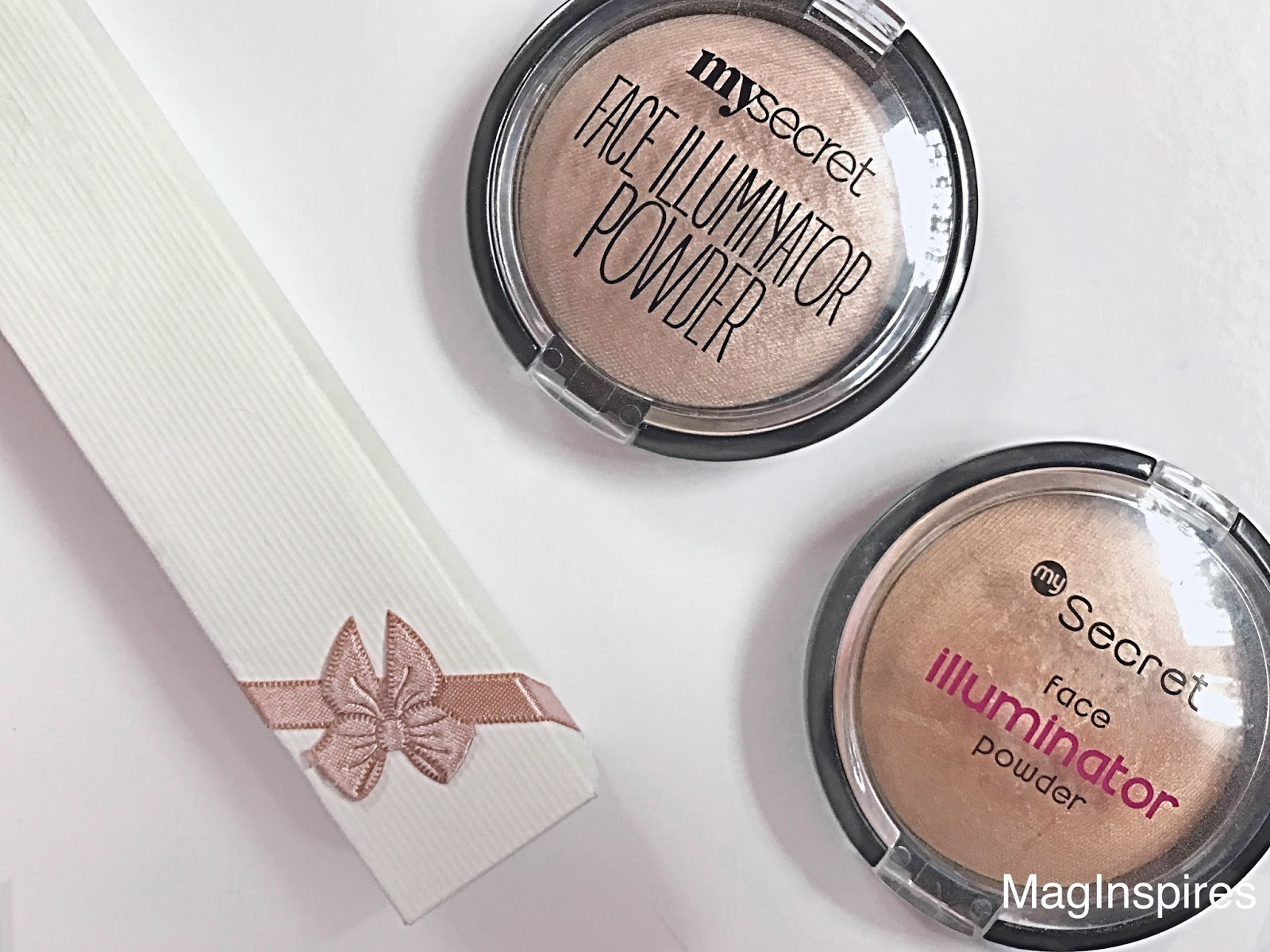 Rozświetlacze MY SECRET FACE ILLUMINATOR POWDER:PRINCESS DREAM vs SPARKLING BEIGE
