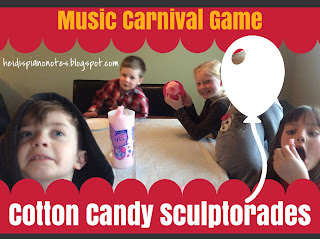 Music Carnival Game: Cotton Candy Sculptorades, a group piano teaching game