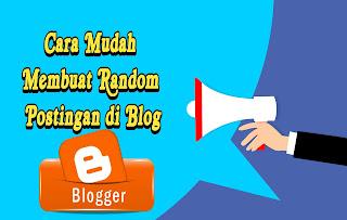 Cara buat random post + gambar thumbnail di blog tanpa edit html