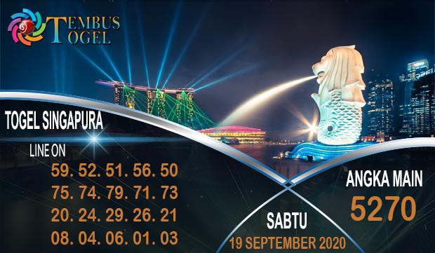Nomor Akurat Togel Singapura Sabtu 19 September 2020