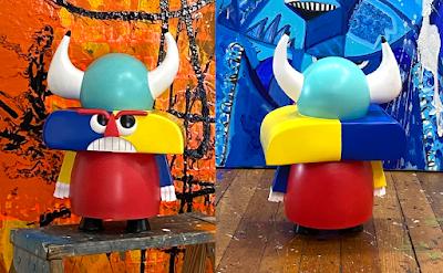Vyke Resin Figure by Joey Feldman x Bottleneck Gallery