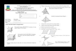 Soal Ulangan Harian Matematika Kelas 5 Semester 2