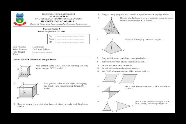Soal UH (Ulangan Harian) Matematika Kelas 5 Semester 2