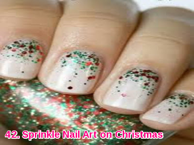 Sprinkle Nail Art on Christmas
